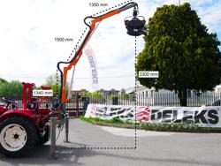 hydraulisk skogskran med timmergrip för montering på traktor crab 3000