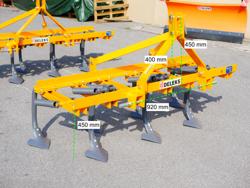 7 pinners kultivator med gåsfotskär arbetsbredd 165cm kultivator för traktor mod de 165 7 v