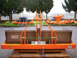 manuell transportskopa med tipp prm 140 l