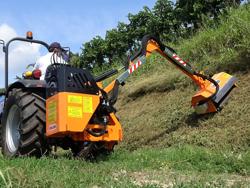 armklippare med skyttelkran til traktor airone 80