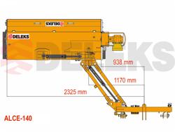 släntklippare med lucka för traktorer alce 140