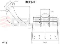 skopa till minigrävare bhb 500