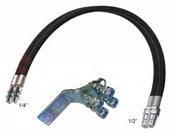 2 hydrauliska slangar 4 00m snabbkopplingsset