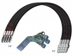 4 hydrauliska slangar 4 00m snabbkopplingsset