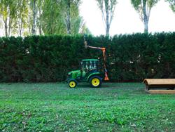 hydraulisk gren och häck klipper til traktor falco 130 h