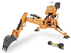 universal bakmonterad traktorgrävare med skopa mod drs 2000