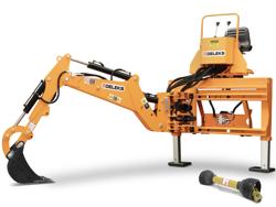 universal bakmonterad traktorgrävare med skopa mod drs 2000t