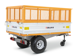 3 vägs hydraulisk tippvagn til traktor rm 14t3s