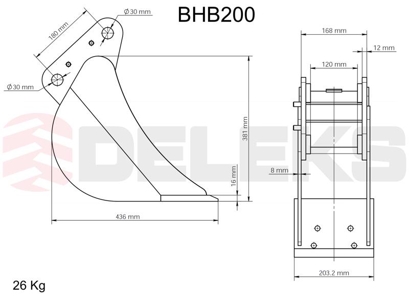 skopa-till-minigrävare-bhb-200