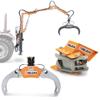 hydraulisk timmergrip grab för trä och småtimmer hydrauliska rotatorer och trähanteringsutrustning