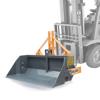 skopa med mekanisk och hydraulisk tipp för gaffeltruck