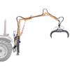 skogskranar för traktorer med hydraulisk grip och 360 roterande rotor för hantering av timmer