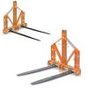 pallgafflar för liten och medelstor traktor höspjut med tips för höbalar för flyttning lyft och förflyttning av pallar eller saker